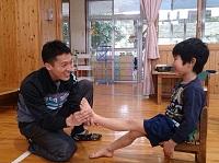 子供の足計測